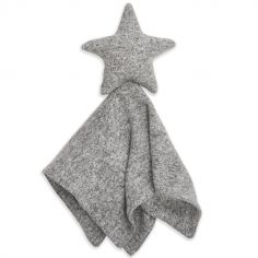 Doudou plat en maille Star lovely heather grey