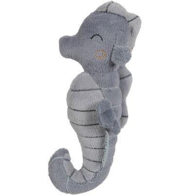 Hochet peluche Hippocampe Ocean blue (17 cm)  par Little Dutch