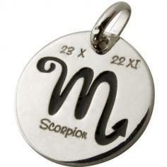 Médaille signe Scorpion 14 mm (argent 925°)