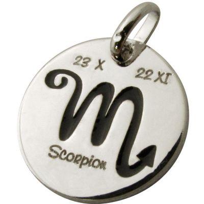 Médaille signe Scorpion 14 mm (argent 925°)  par Martineau