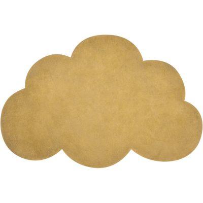 Tapis nuage en coton jaune moutarde (67 x 100 cm) Lilipinso