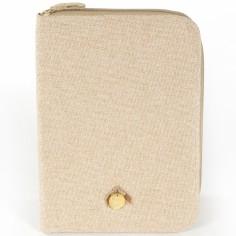Protège carnet de santé Sweet Tweed beige