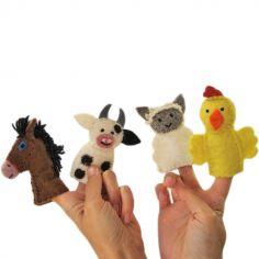 Marionnettes à doigt animaux de la ferme