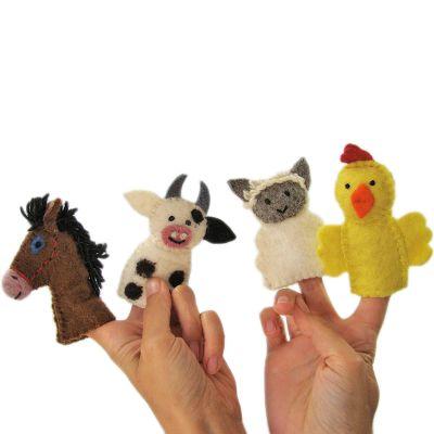 Marionnettes à doigt animaux de la ferme  par Papoose