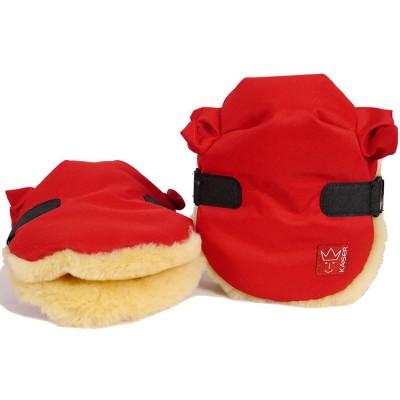 Moufles pour poussette Twoolly rouges Kaiser