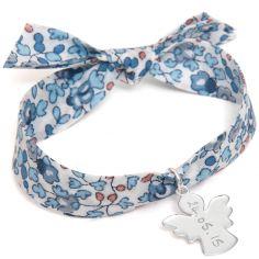 Bracelet maman Liberty avec ange personnalisable (argent 925°)
