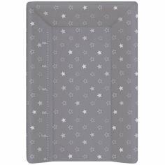 Matelas à langer Luxe avec toise étoiles gris (50 x 70 cm)
