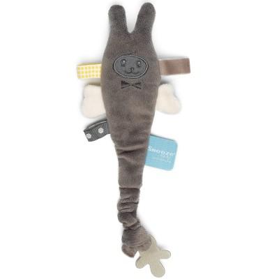 Doudou attache sucette avec clip Storm Grey Zigga Snoozebaby