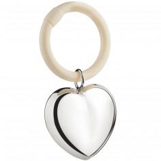Hochet anneau Coeur suspendu