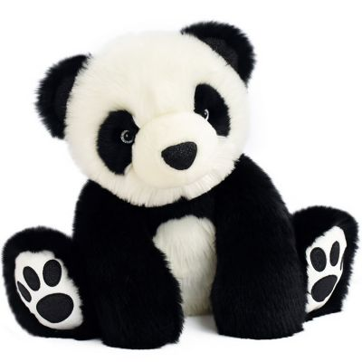 Peluche panda So Chic noir (35 cm) Histoire d'Ours