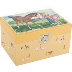 Boîte à bijoux musicale jeune cheval Mémoire d'enfance Jeanne Lagarde
