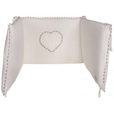 Tour de lit Emma blanc (pour lits 60 x 120 cm et 70 x 140 cm)  par Nougatine