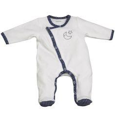 Pyjama chaud Merlin blanc (1 mois)