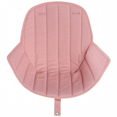 Assise tissu chaise haute Ovo Luxe rose  par Micuna