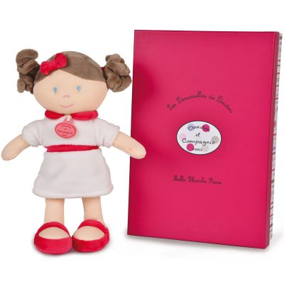 Mademoiselle Blanche Rose Les demoiselles de doudou rose (30 cm)  par Doudou et Compagnie