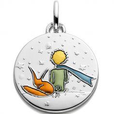 Médaille Le Petit Prince et le renard (argent 925°)