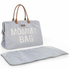 Sac à langer à anses Mommy bag large gris