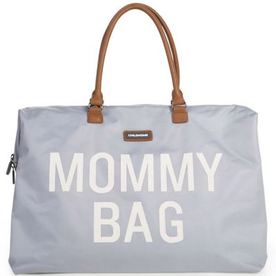 Sac à langer à anses Mommy bag large gris  par Childhome