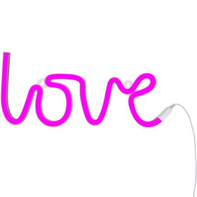 Lampe murale néon Love rose A Little Lovely Company