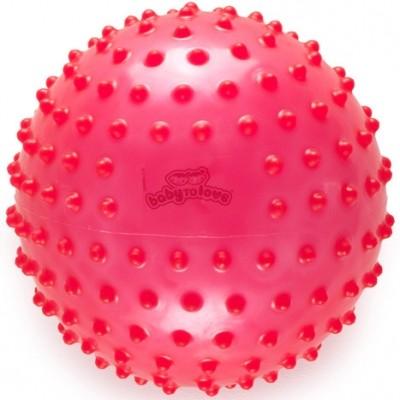 Balle tactile transparente rose  par BabyToLove