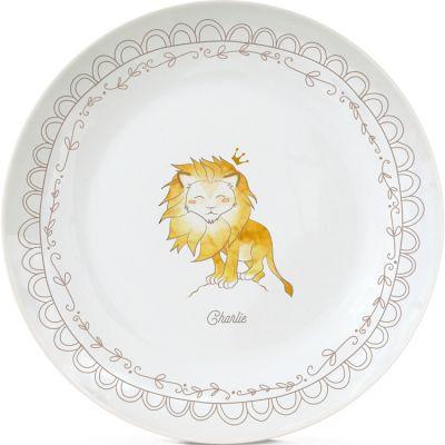 Assiette en porcelaine Lion (personnalisable)  par Gaëlle Duval