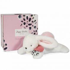 Peluche avec coffret lapin rose Happy Blush (25 cm)