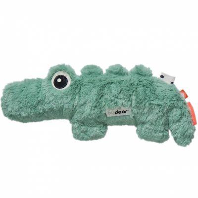 Peluche crocodile Croco vert (27 cm)  par Done by Deer