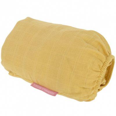 Drap housse en coton bio moutarde (60 x 120 cm)  par Little Crevette