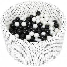 Piscine à balles ronde pois personnalisable (90 x 40 cm)