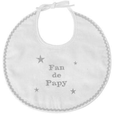 Bavoir de naissance fan de papy  par ANVIE