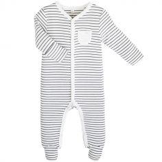 Pyjama chaud rayé (6-9 mois)