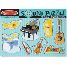 Puzzle à encastrement sonore Instruments de musique (8 pièces)
