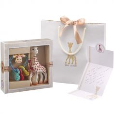 Coffret cadeau hochet coeur Sophie la Girafe Sophiesticated