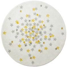Tapis rond étoile Nova (120 cm)