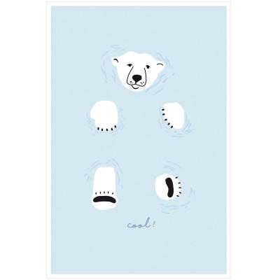 Affiche Ours Cool (60 x 40 cm)  par Mimi'lou