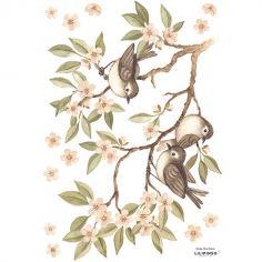 Stickers Oh deer branches et moineaux (29,7 x 42 cm)