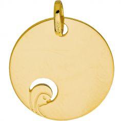 Médaille ronde Vierge ajourée (or jaune 375°)