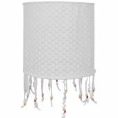 Suspension lampion en tissu Crochet perles - Taftan
