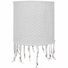 Suspension lampion en tissu Crochet perles