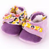 Chaussons de naissance Tchiki parme (0-12 mois) - L'oiseau bateau