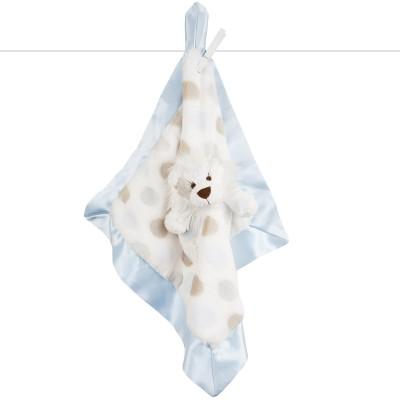 Doudou plat Little L le lion bleu clair (36 x 36 cm) Little giraffe