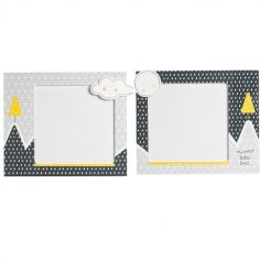 Lot de 2 cadres photos Babyfan (17 x 14,5 cm)