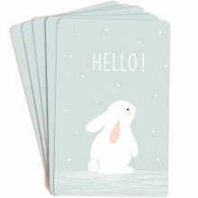 Lot de 10 mini cartes Hello  par Zü