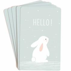 Lot de 10 mini cartes Hello