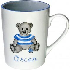 Mug Ourson bleu personnalisable