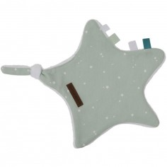 Doudou attache sucette Little stars mint