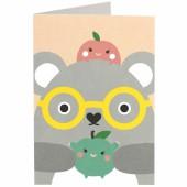 Carte Ricehawking koala gris - Noodoll