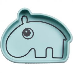Bol antidérapant silicone Ozzo hippopotame bleu