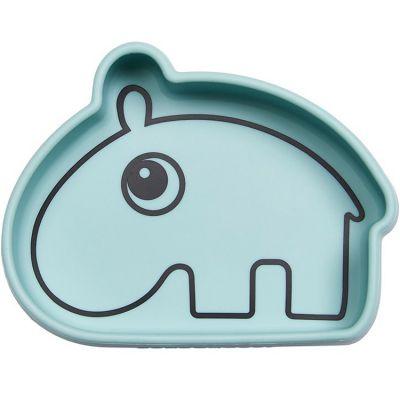 Bol antidérapant silicone Ozzo hippopotame bleu  par Done by Deer
