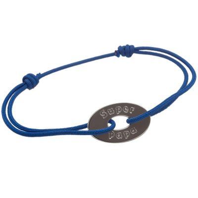 Bracelet cordon Super Papa (argent 925°) Petits trésors